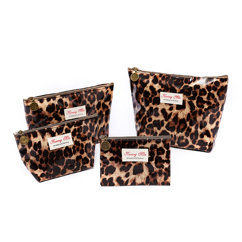 Manufacturers New Cosmetic Bag Wash Fashion Leopard Waterproof Women Ladies Clutch Purse