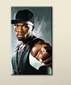 50 CENT Hip Hop Rap Art Work Oil Painting Notorious Big