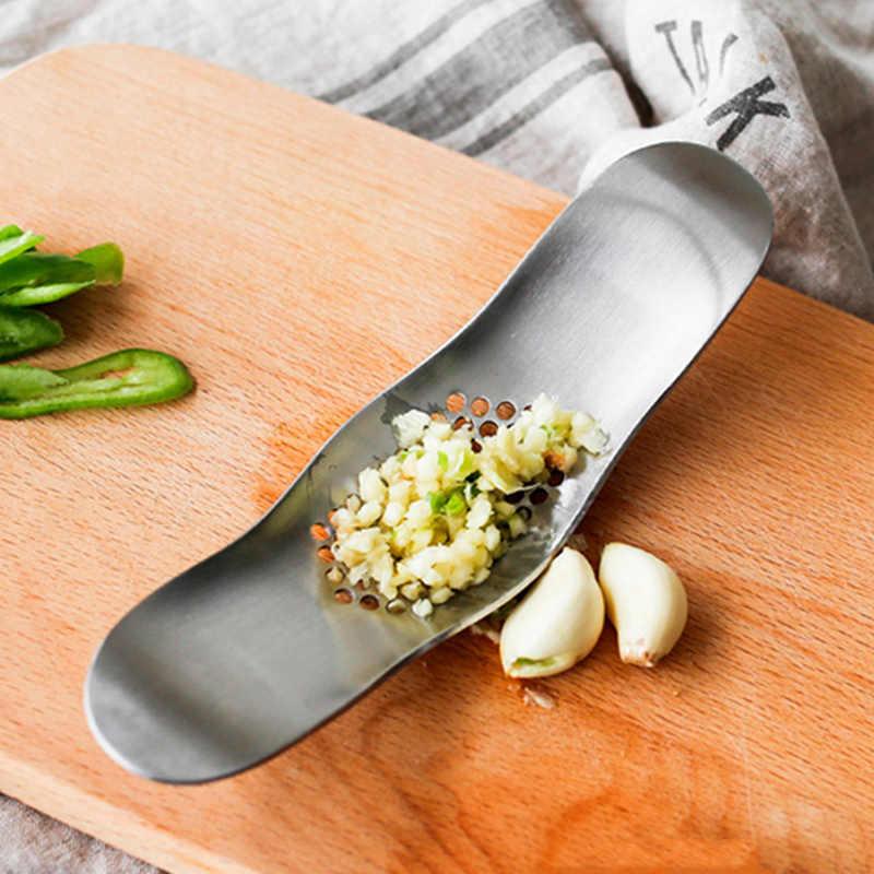 Küche Gadgets edelstahl Knoblauch Presse Knoblauch Chopper Brecher Metall Ingwer Knoblauch Cutter Gemüse Slicer Kochen Werkzeuge