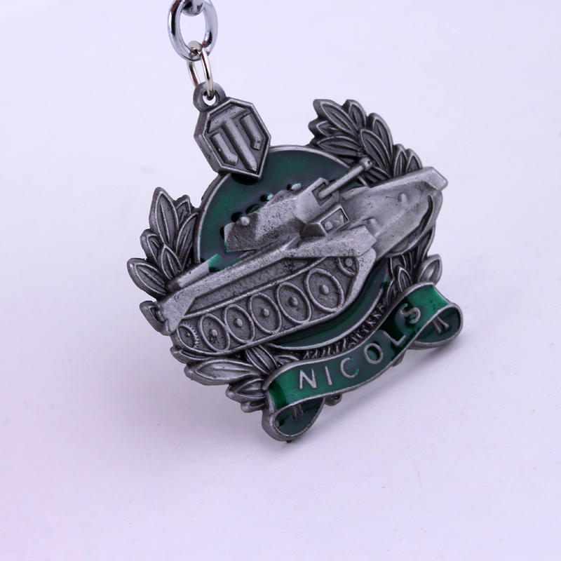 MQCHUN Hot Sale Game World Of Tanks Keychain WOT Pendant Keychain Keychain Metal Men Car Key Gift Tank War Keyring Jewelry