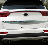 FOR 2016 2017 KIA SPORTAGE High Quality Stainless Steel Rear Trunk Lid Cover Trim Car Styling