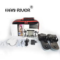 HANRIVER /Dual channel output TENS EMS pain relief/Electrical nerve muscle stimulator/Digital therapy massager/Physiotherapy
