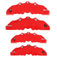 4Pcs ABS 3D Red Useful Car Disc   Brake   Caliper Covers Front Rear Auto Universal   Brake     System   Kit Replacement Parts