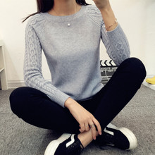 Leiouna 2017 Spring Winter Knitted Women Sweaters And Pullovers Female Long Warm Sleeve Jumper Pull Femme Cheap China Wings