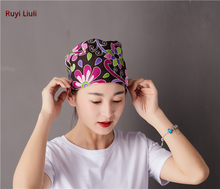 Printed surgical cap for both men and women all-purpose cotton operating room spring summer chemotherapy baotou