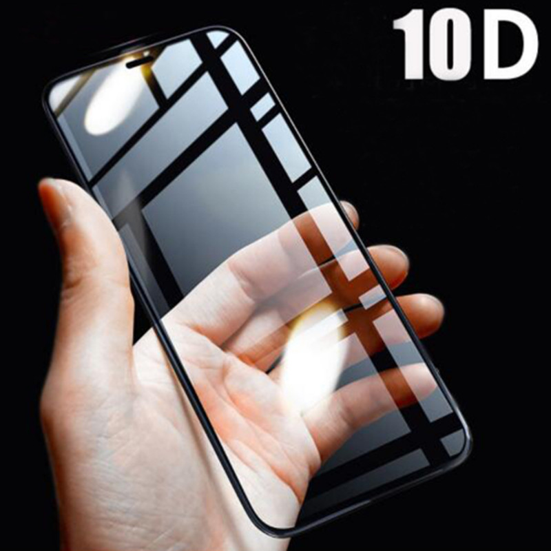 10D Protective Glass On The For IPhone Xs Max 6s 7 8 6 Plus X Xr Xs Iphone 7 Iphone 6s Full Cover Protection Tempered Film