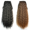 Fashion Women Ponytails Hair Extensions Black Brown Blonde Long Curly Ponytail Synthetic Hair Pony Tail Extension Wavy Hairpiece