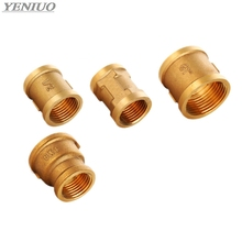 F/F 1/2 3/4 1 BSP Female Thread water Brass Pipe Fittings Rounding Nut Rod Connector Coupling Full Port Copper Adapter