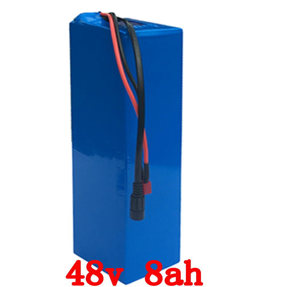 Free Shipping 48V 8AH 500W Electric Bicycle battery Lithium Battery with PVC case with 15A BMS and 54.6V 2A charger 24v e bike battery 8ah 500w with 29 4v 2a charger lithium battery built in 30a bms electric bicycle battery 24v free shipping