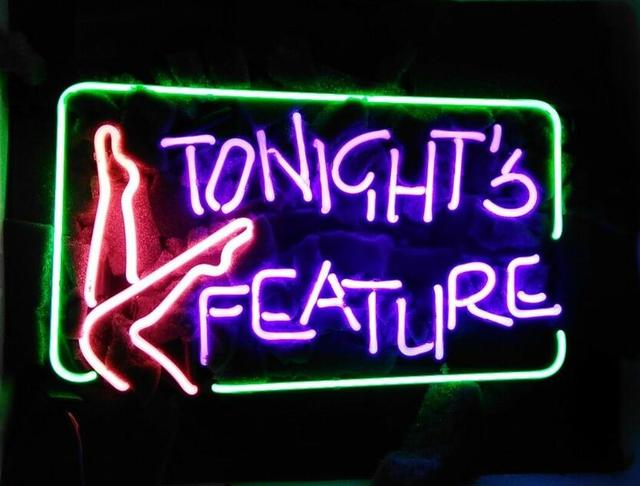 Custom TONIGHT'S FEATURE Glass Neon Light Sign Beer Bar