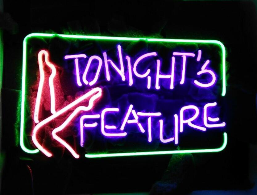 Custom TONIGHTS FEATURE Glass Neon Light Sign Beer BarCustom TONIGHTS FEATURE Glass Neon Light Sign Beer Bar