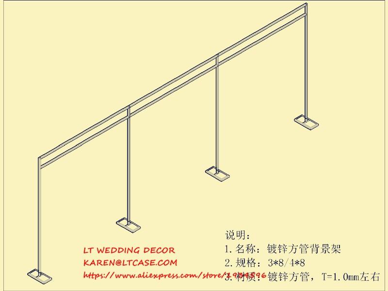 Einstellbare 3*3*3 mt platz doppelrohr crossbar von hochzeit piping ...