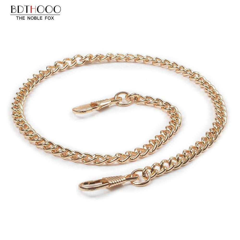 40cm Replacement Metal Chain For Hand Bags Handle Crossbody Handbag Antique Bronze Tone DIY Bag Strap Accessories Hardware Gold