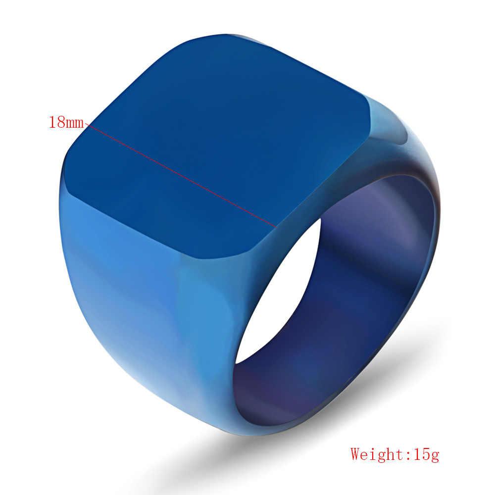 Мужское кольцо из нержавеющей стали, 4 цвета