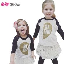 2016 New Summer Family Look T-shirts Cotton Long Sleeves Best Friend T-shirt Kids Tee Boys Girls Clothes Family Matching Outfits