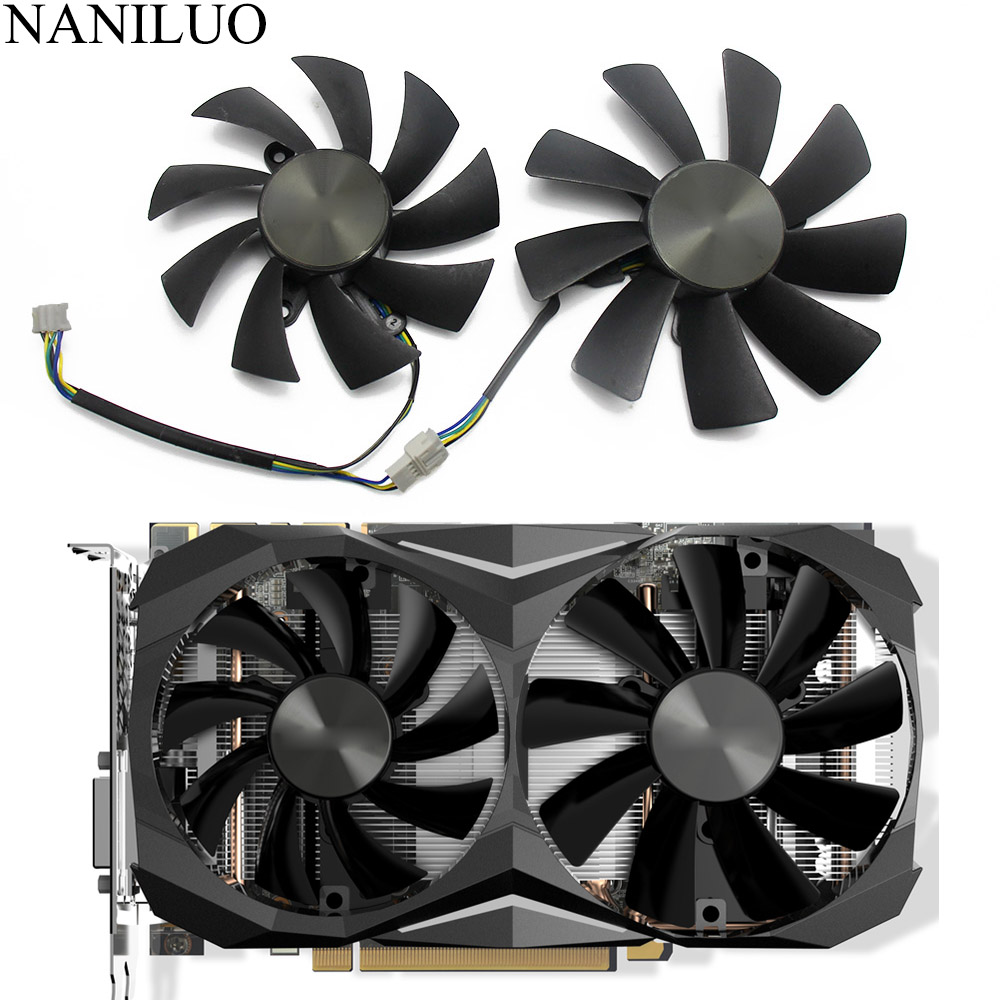 87MM GA92S2H 100MM <font><b>GTX1070TI</b></font> Mini 4PIN Cooler fan For ZOTAC <font><b>GeForce</b></font> GTX 1080 GTX 1070 Ti Mini GTX 1060 AMP Edition 6GB Card image