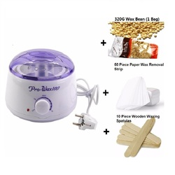 Wax heater depilatory waxing kit including 500ml wax warmer pot 10 wooden spatulas 50 removal strip.jpg 250x250
