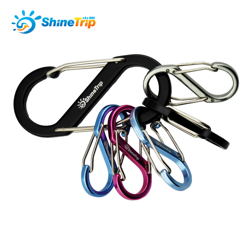 Camping And Hiking Climbing Carabiner Tourist Tent Hook Outdoor Multifunctional Walking Hanging Backpack Buckle Hanger S