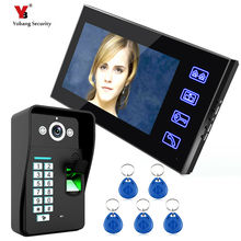 Yobang Security 7 inch fingerprint Video Door Phone Night Vision Doorbell Camera Mounted Video Intercom Monitor with RFID keyfob