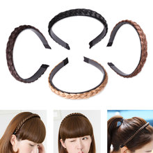 2019 Twisted Wig Braid Hairband Colorful 1PC Headband For Women Wedding Hair Bands Hairband Plaited Braided Hair Accessories цена 2017
