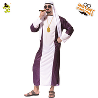 Traditional Men Dubai Gangster Costume For Carnival Party Cosplay Dubai Fancy Dress Up Gangster Clothing Imitation