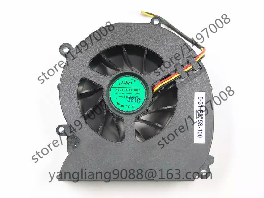 цена на ADDA NEW AB7805HX-BB3, P370, 6-31-P375S-100 DC 5V 0.40A 3-wire 3-Pin connector 50mm Server Blower Cooling fan