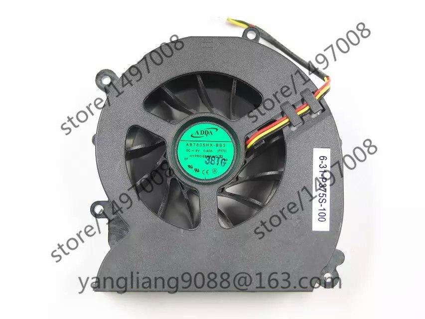 ADDA NEW AB7805HX-BB3 P370 6-31-P375S-100 DC 5V 0.40A 3-Wire Server Cooler FanADDA NEW AB7805HX-BB3 P370 6-31-P375S-100 DC 5V 0.40A 3-Wire Server Cooler Fan
