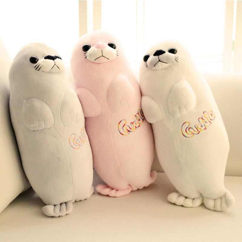 Морские львы уплотнения плюшевые игрушки куклы аквариум отправить его подруга подарок на день рождения для детей Рождественский Подушка-тюлень детские игрушки Kawaii
