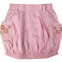 Girl S Embroidery Floral Pattern Bud Style Mini Jeans Skirts Above Knee Pockets Elastic Waistband For