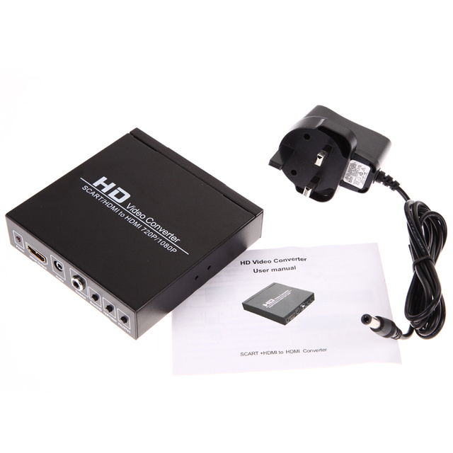 Scart/HDMI к HDMI 720 P 1080 P HD Video Converter Box для HDTV DVD STB для PS2/PS3/PSP/Wii/XBOX360
