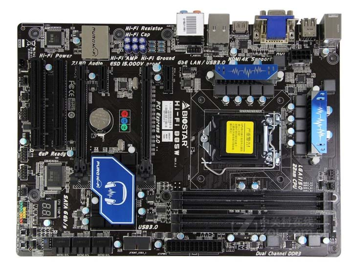 Used, Original  100% Original Motherboard  BIOSTAR Hi-Fi B85W LGA 1150 DDR3 Motherboard