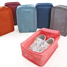 Wielofunkcyjne przenośne torby podróżne wodoodporny worek na buty Box akcesoria podróżne pokrowiec wentylacja organizator materiały podróżne torba tanie tanio Poliester Moda zipper Stałe Podróż torba WOMEN Miękkie AAB0819 0 15 polyester Wszechstronny JULY S SONG
