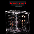 Fashion Jewelry Acrylic Transparent Necklace Bracelet Earrings Hanging Rack Display Stand Storage Box Holder