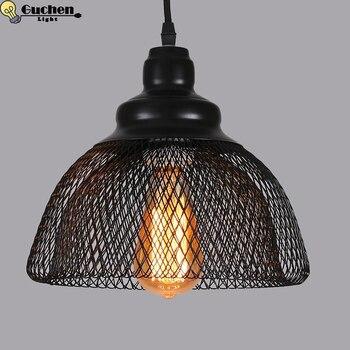 Скандинавский минимализм droplight клетка абажур E27 маленькие подвесные светильники, домашний декор Освещение лампы и бар витрина Edison лампы для...
