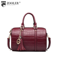 ZOOLER High Quality Genuine Leather Handbag Shoulder Bags Woman Famous Brand Bag Pillow Stylish Elegant Tote