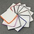 Mantieqingway Pañuelos Pañuelos de Algodón Blanco para La Boda de Bolsillo Color Sólido Pocket Square Pañuelo Toalla 23*23 CM