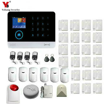 YoBang Security Home Wireless Network GSM Gprhrfid Security Alert System IOS Android Application Smart Cloud Smoke Alarm System