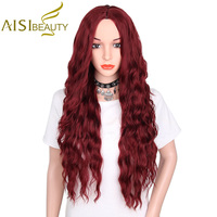 AISI BEAUTY 30 Mixed Brown And Yellow Color Long Wavy Synthetic Hair Wigs For Women