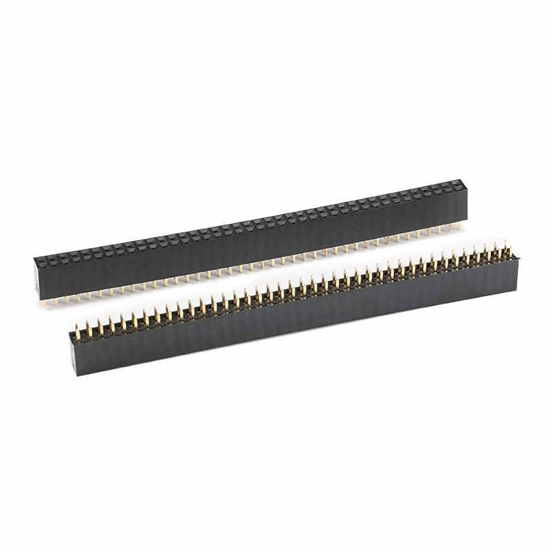 10 CHIẾC 2X40 Pin Đôi hàng Nữ Pin Đầu 2.54 Mm Dây Ổ Cắm Nối 2 * 40PIN CHO PCB Board