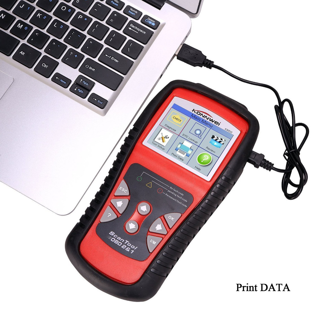 Hot Sales KW830 AL519 OBD2 EOBD Car Fault Code Reader Scanner Automotive Diagnostic Code Readers & Scan Tools Can Test Battery