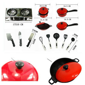 Image 5 - 2019 Newest Hot 13PCS Toddler Girls Baby Kids Play House Toy Kitchen Utensils Cooking Pots Pans Food Dishes Cookware