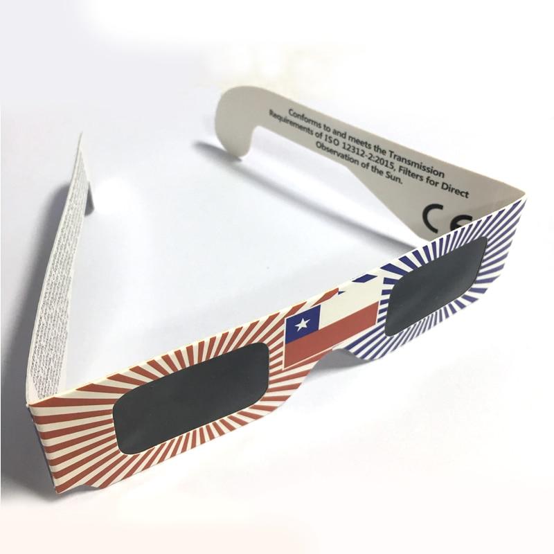 3000pcs lot Wholesale 3D Paper Safe Solar Glasses Safe Solar Eclipse Viewing Glasses
