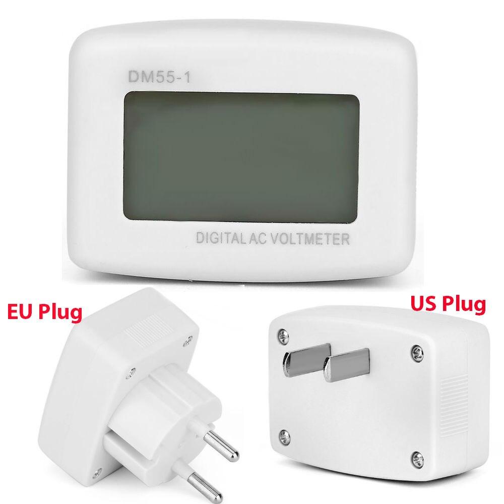 1Pcs Plug in LCD Digital AC 80 300V Voltmeter DM55 1 110V/220V ...