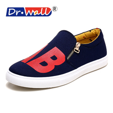 Oxford Shoes For Promotion New 2016 Dr. Wall Spring/summer Breathable Fahion Zip Man's Shoes Casual Outdoor Boy Sport M-hx803