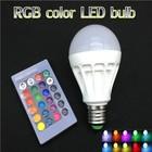 RGB LED Lamp E27 B22 9W LED Bulb RGB Soptlight 85-265V Energy Saving 16 Color Change LED Lampara With IR Remote Brand NEW