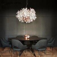 После современной люстра скандинавском стиле творческая личность лампы столовая Lounge искусство освещения простые почтовые Бесплатная