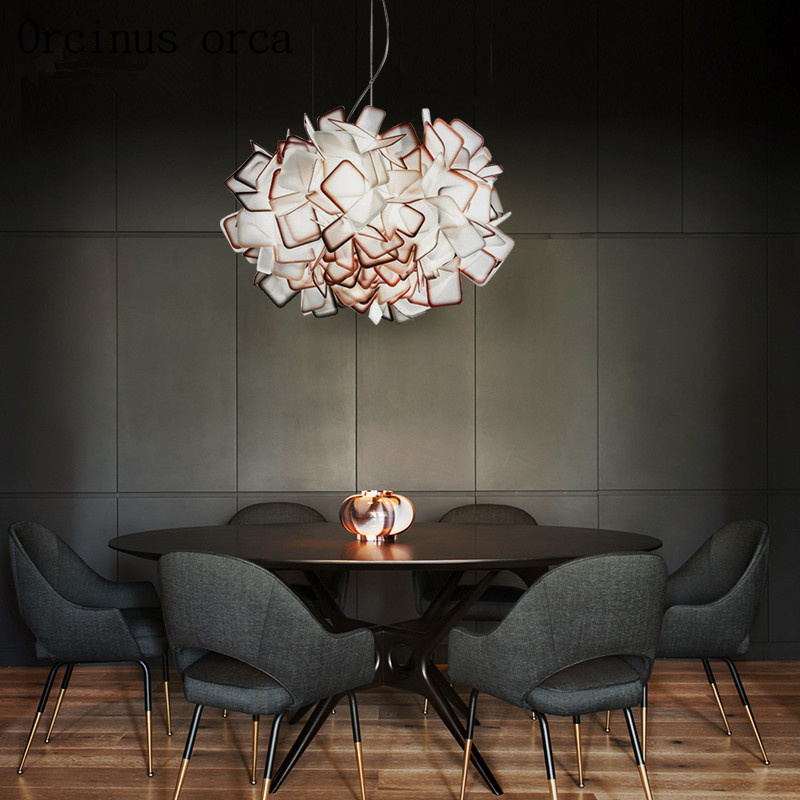 After The Modern Chandelier Nordic Style Creative Personality Lamps Dining Room Lounge Art Lighting Simple Postage Free