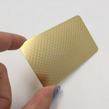 Personalized Gold Embossed Double-side Metal Business Card