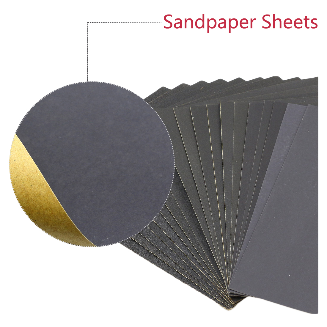 "40 Pc Sandpaper Wet Dry 3""x 5 1//2/"" 1000//1200// 1500//2000//2500//3000//5000//7000 Grit"