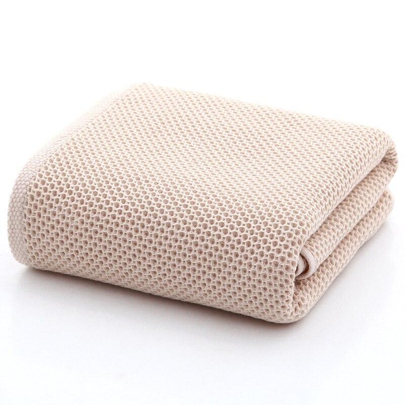 70x140cm Honeycomb Breathable Bath Towel Elegant Absorbent Cotton Bathroom Solid Bath Towels Soft Comfortable Towel for
